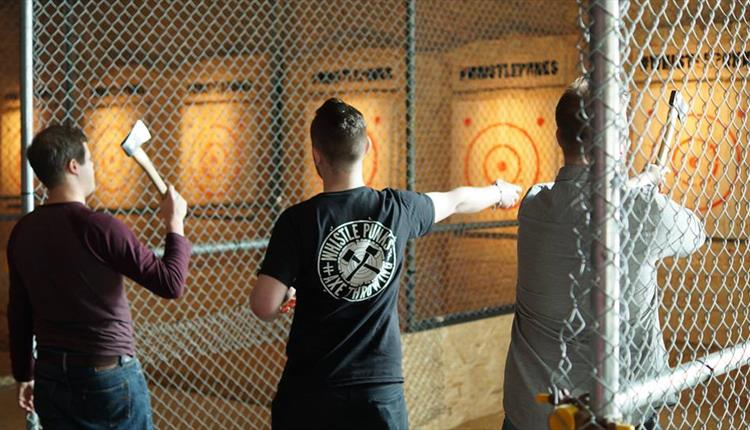 Whistle Punks Axe Throwing Manchester Irish Rugby Tours